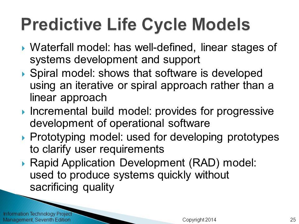 Predictive Life Cycle Models