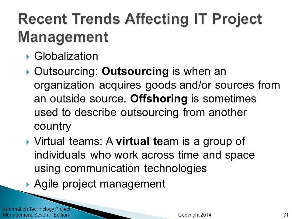 Recent Trends Affecting IT Project Management