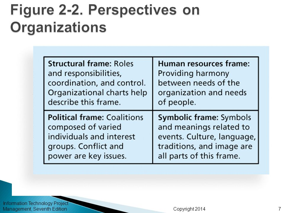 Figure 2-2. Perspectives on Organizations