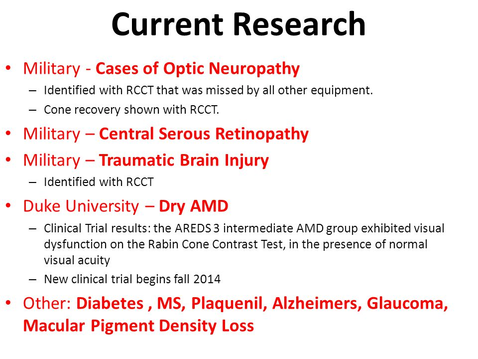 Current Research Military - Cases of Optic Neuropathy