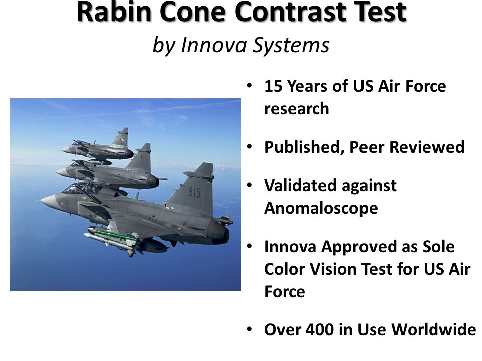 Rabin Cone Contrast Test by Innova Systems