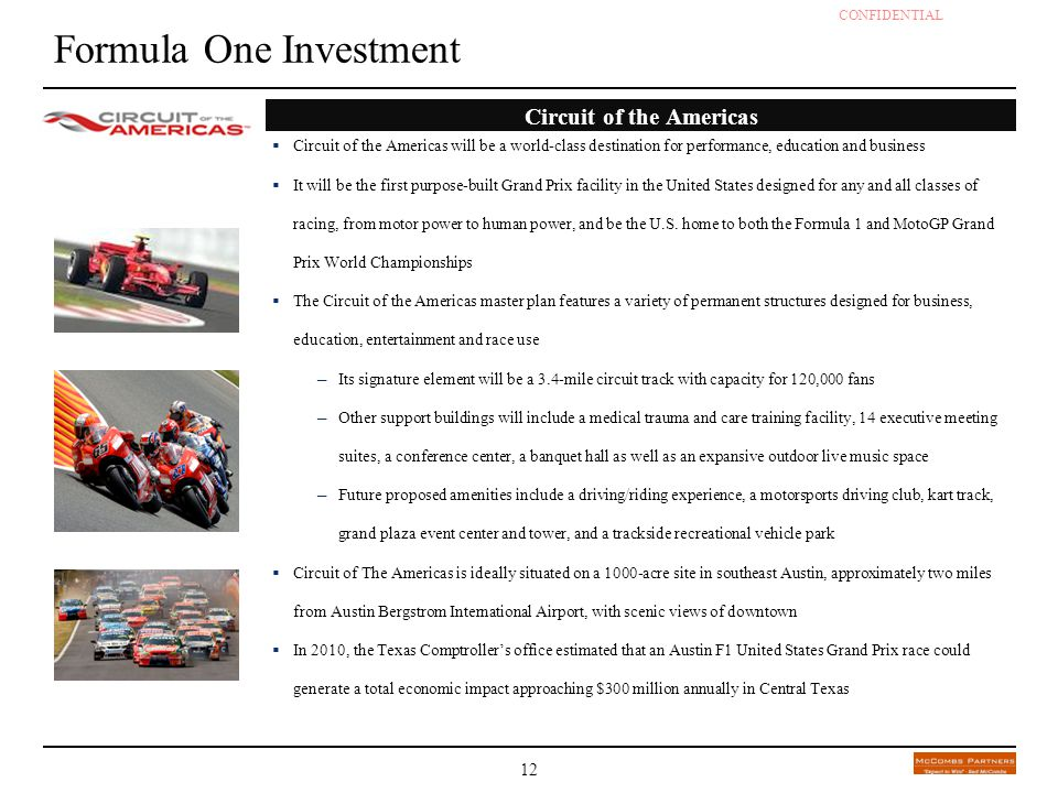 Formula One Investment