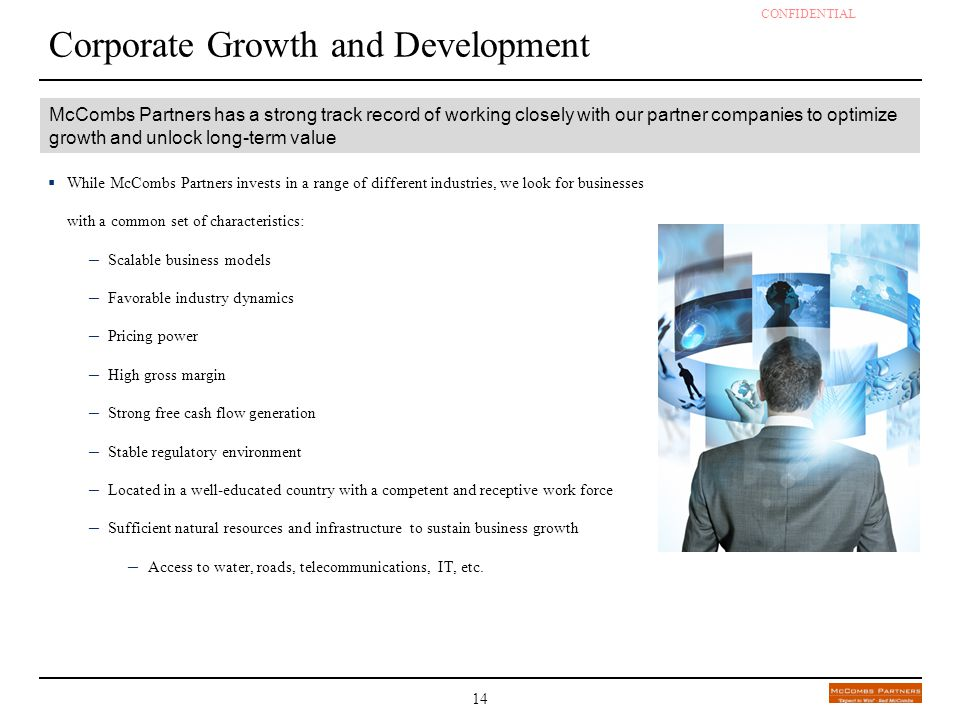 Corporate Growth and Development