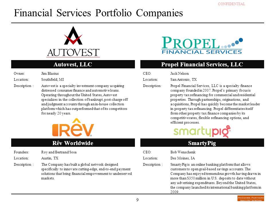 Financial Services Portfolio Companies