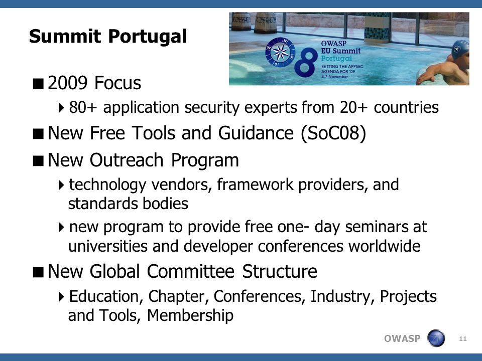 New Free Tools and Guidance (SoC08) New Outreach Program