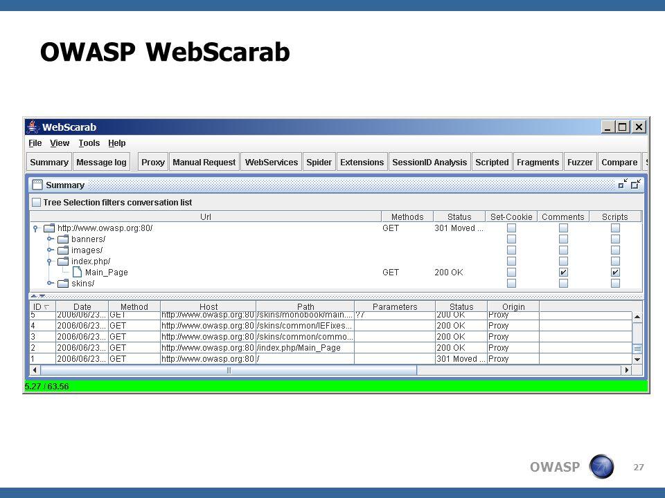 OWASP WebScarab