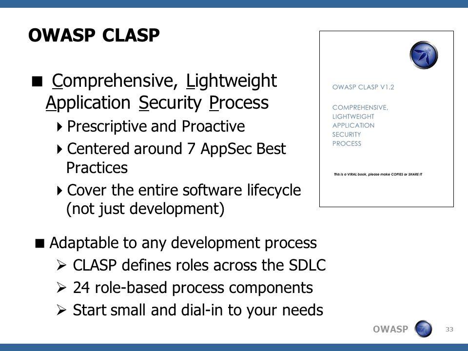 Comprehensive, Lightweight Application Security Process