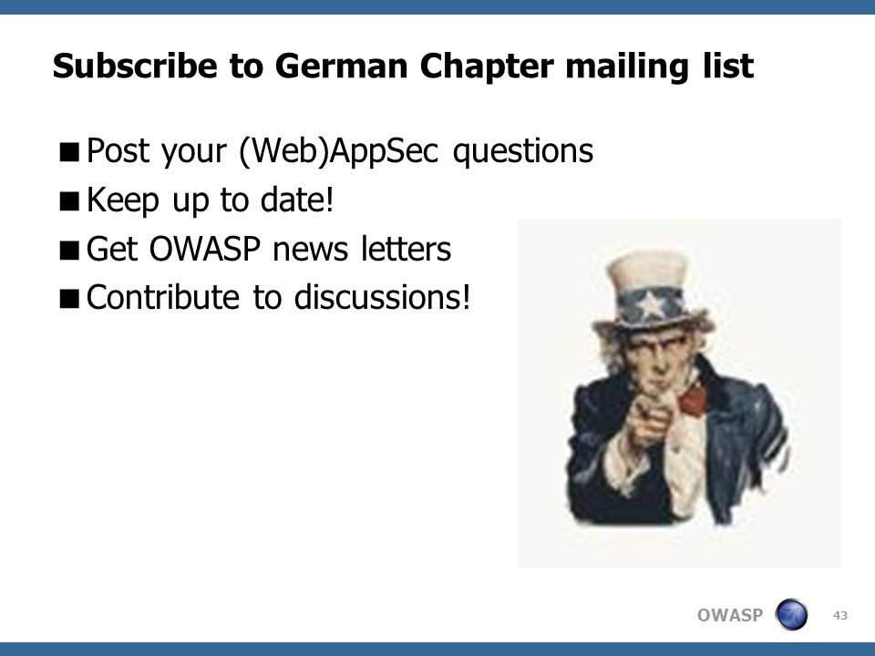Subscribe to German Chapter mailing list