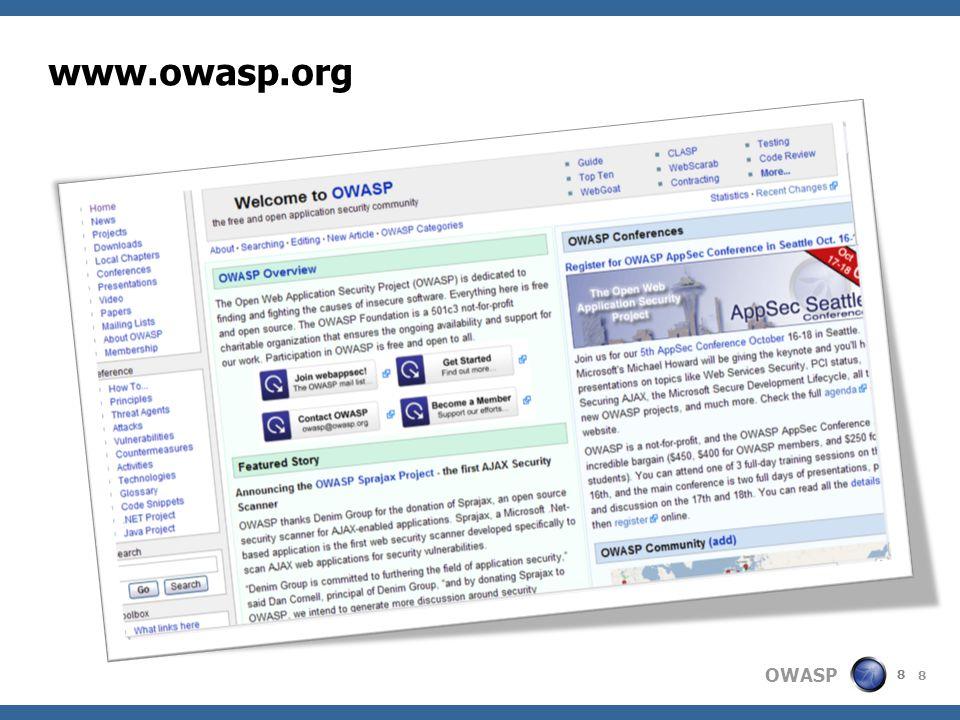 www.owasp.org 8 8 8 8