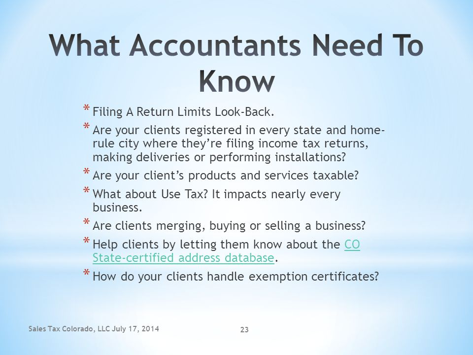 What Accountants Need To Know
