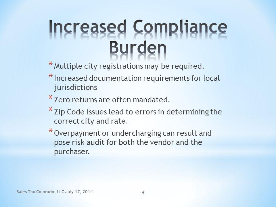 Increased Compliance Burden