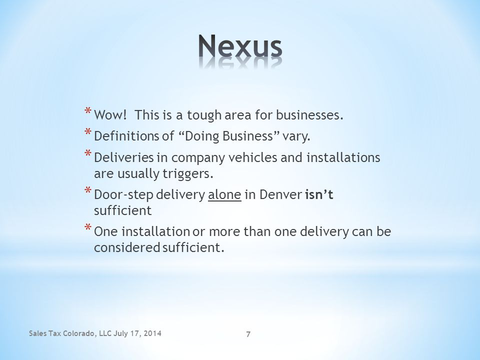Nexus Wow! This is a tough area for businesses.