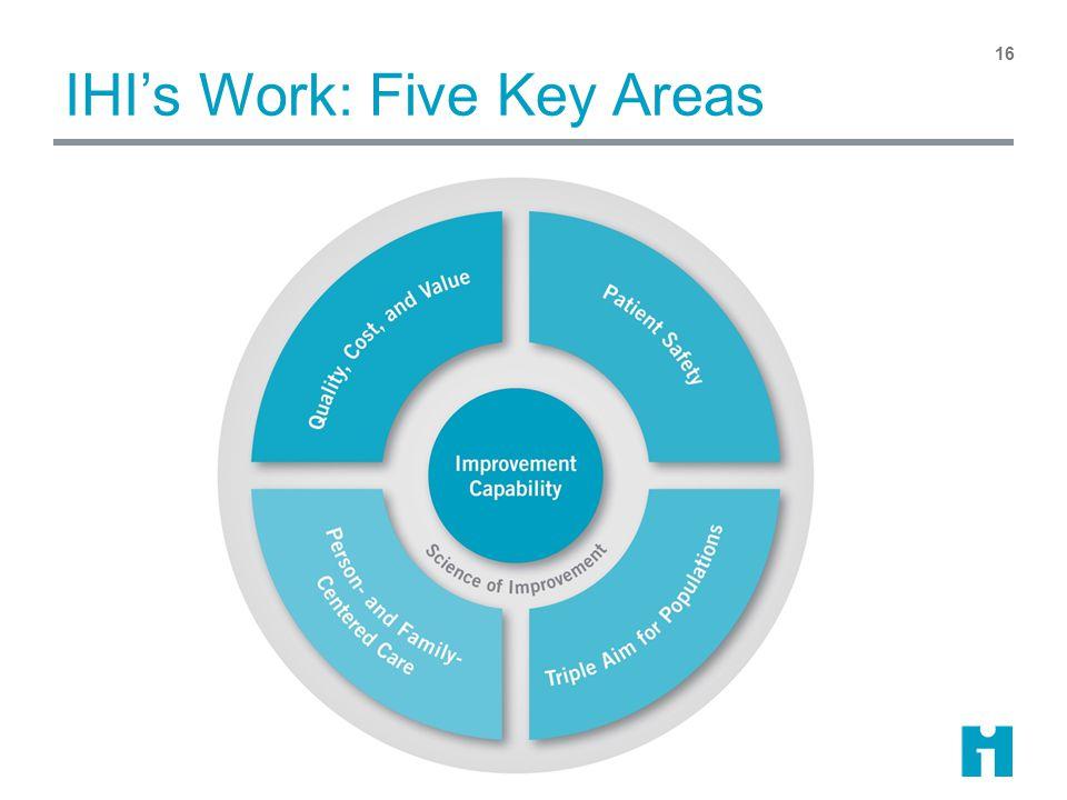IHI's Work: Five Key Areas