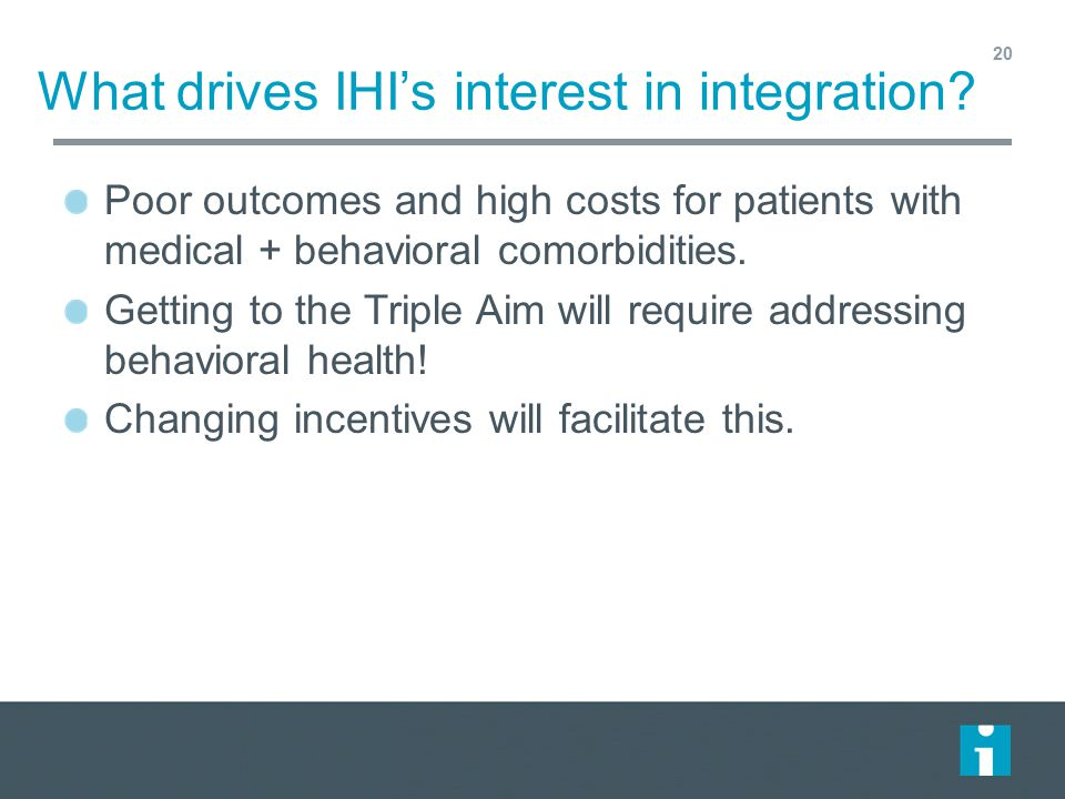 What drives IHI's interest in integration
