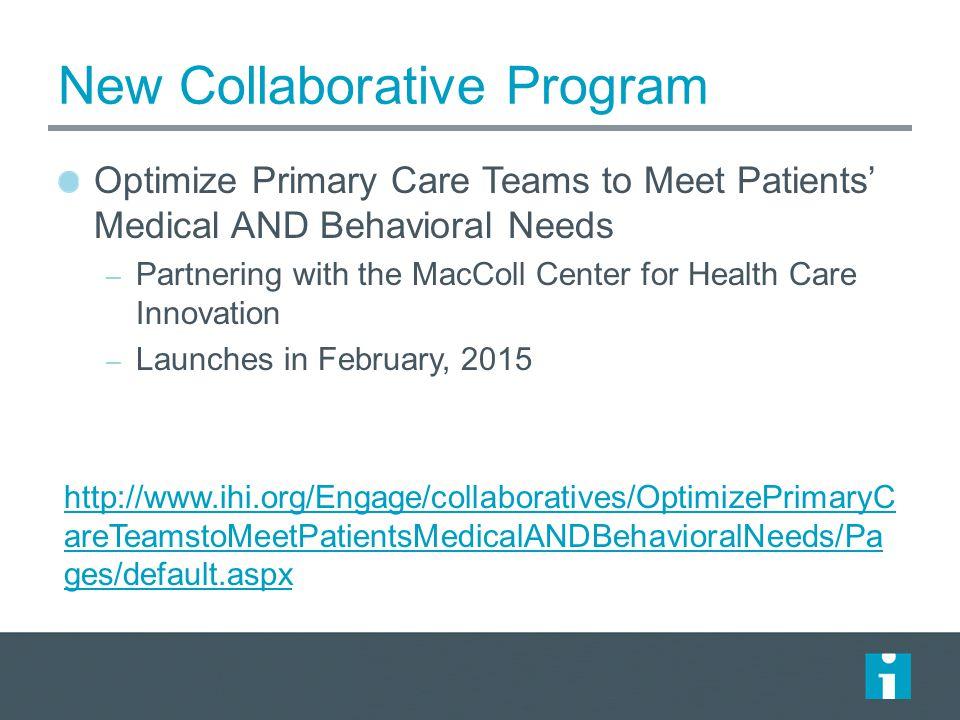 New Collaborative Program