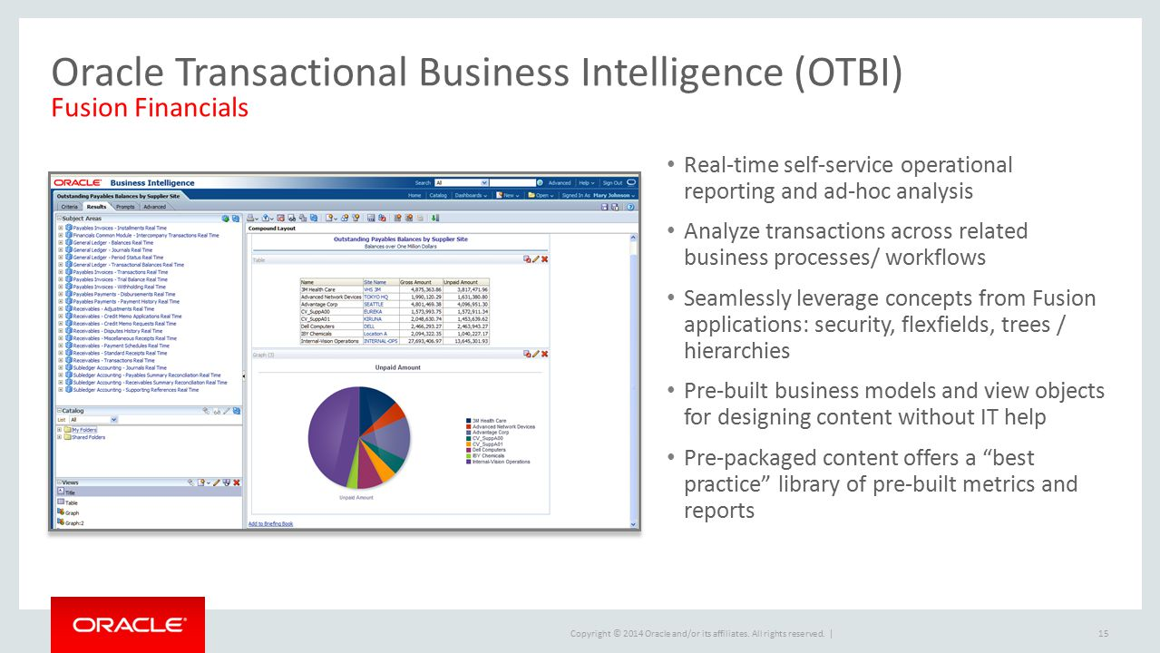 Oracle Transactional Business Intelligence (OTBI) Fusion Financials