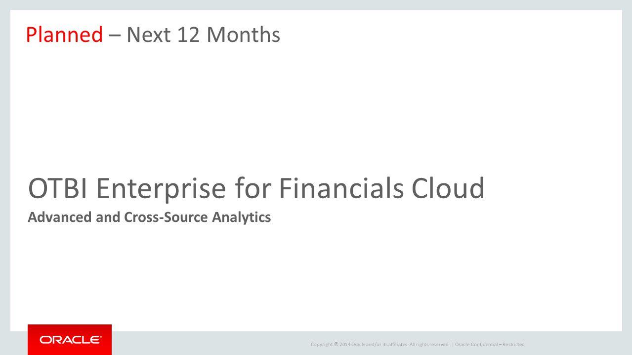 OTBI Enterprise for Financials Cloud