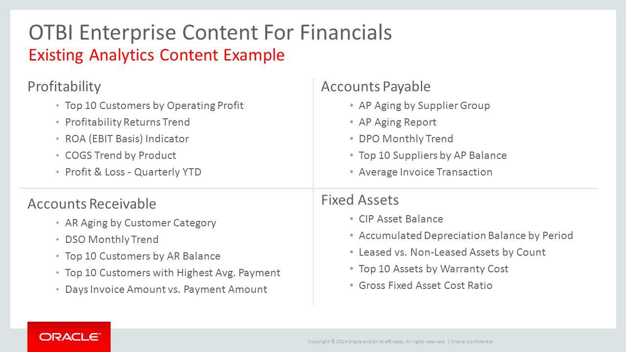 OTBI Enterprise Content For Financials