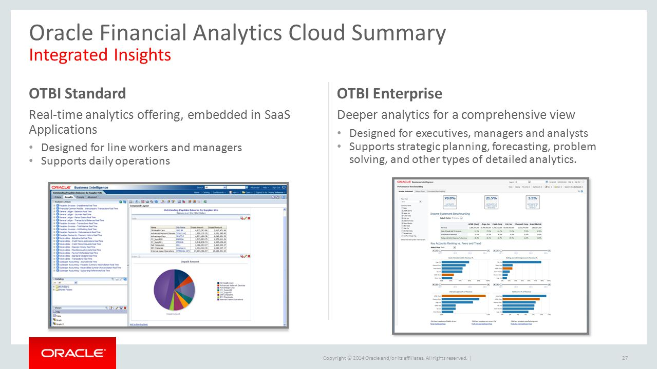 Oracle Financial Analytics Cloud Summary