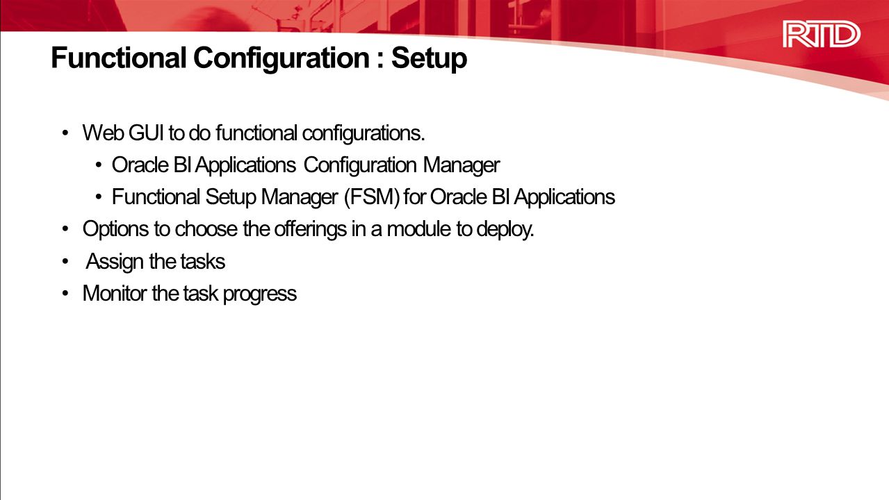 Functional Configuration : Setup