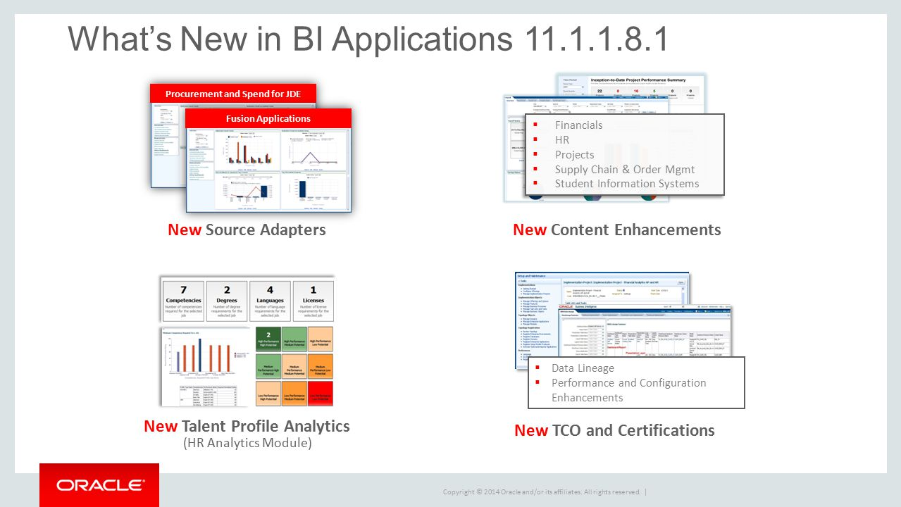 What's New in BI Applications 11.1.1.8.1