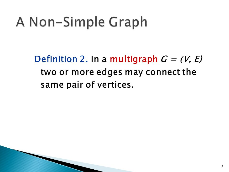 A Non-Simple Graph Definition 2.