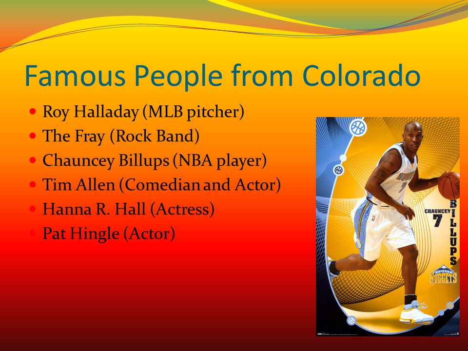 Famous People from Colorado