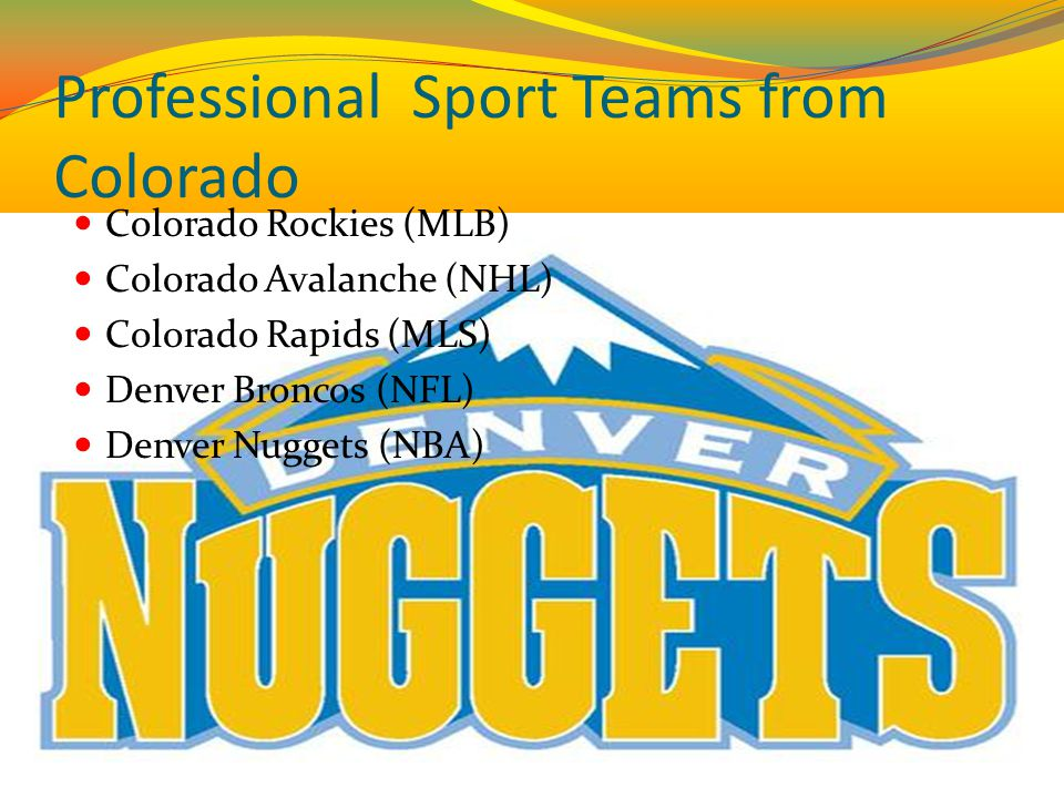 Professional Sport Teams from Colorado
