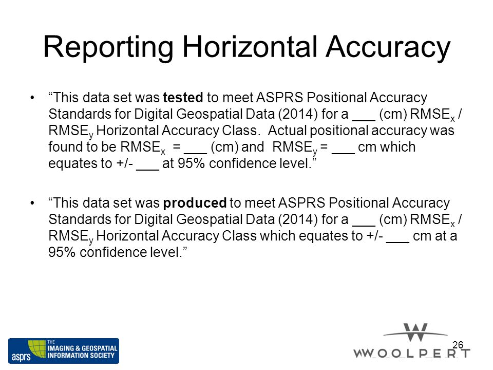 Reporting Horizontal Accuracy