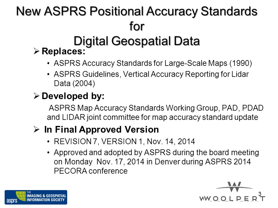 New ASPRS Positional Accuracy Standards for Digital Geospatial Data