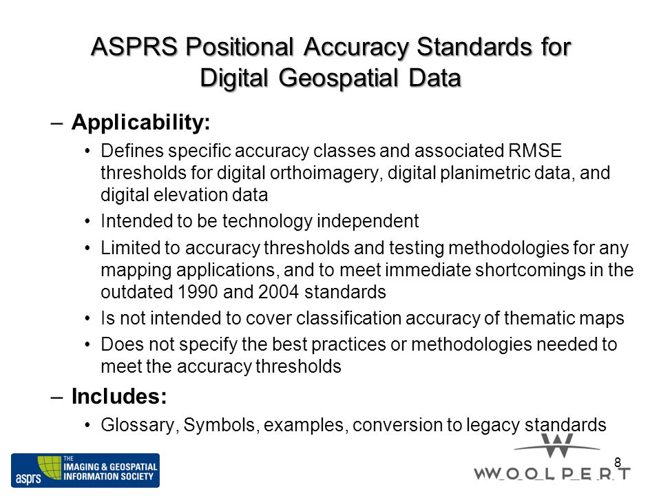 ASPRS Positional Accuracy Standards for Digital Geospatial Data