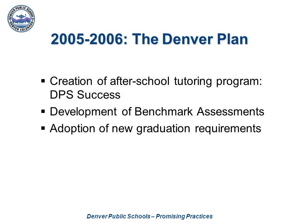 Denver Public Schools – Promising Practices