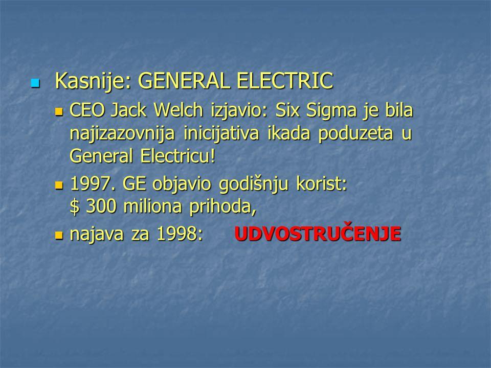 Kasnije: GENERAL ELECTRIC