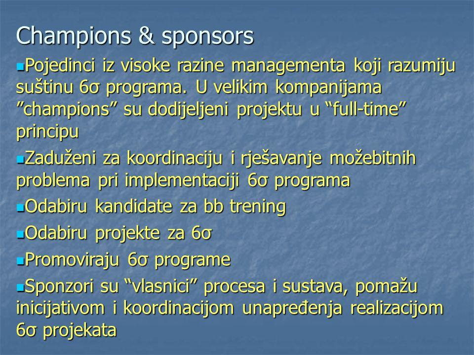 Champions & sponsors