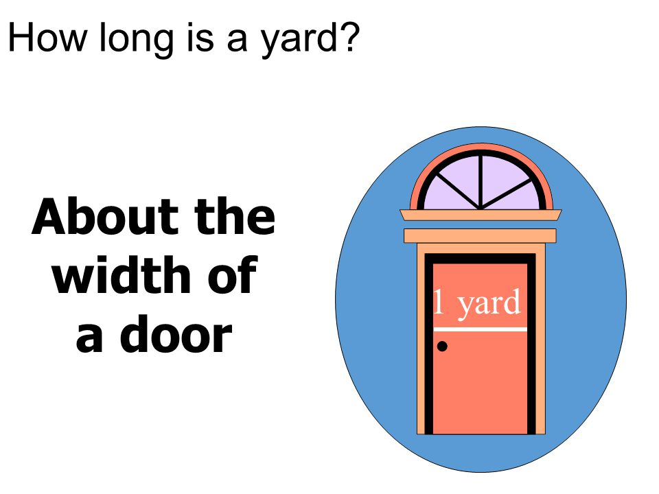 About the width of a door