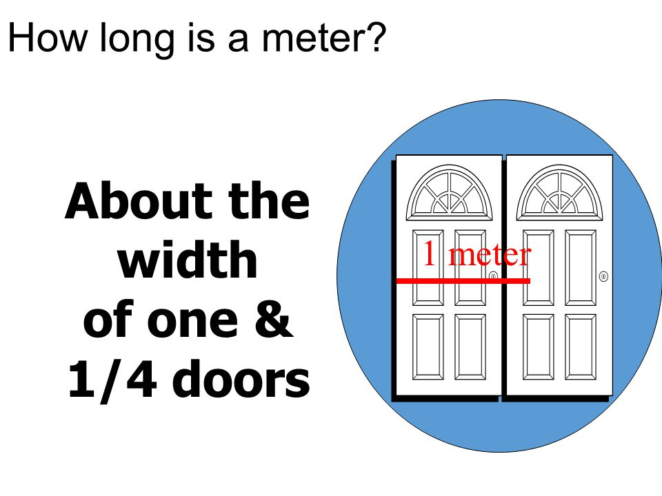 About the width of one & 1/4 doors