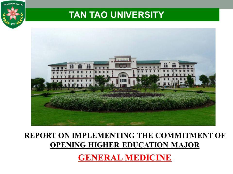TAN TAO UNIVERSITY GENERAL MEDICINE