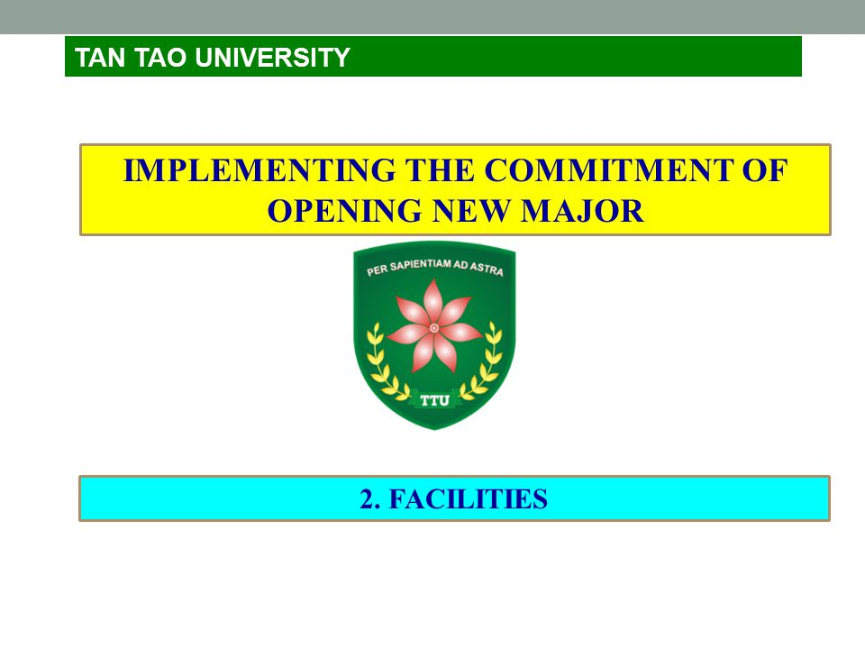 IMPLEMENTING THE COMMITMENT OF OPENING NEW MAJOR