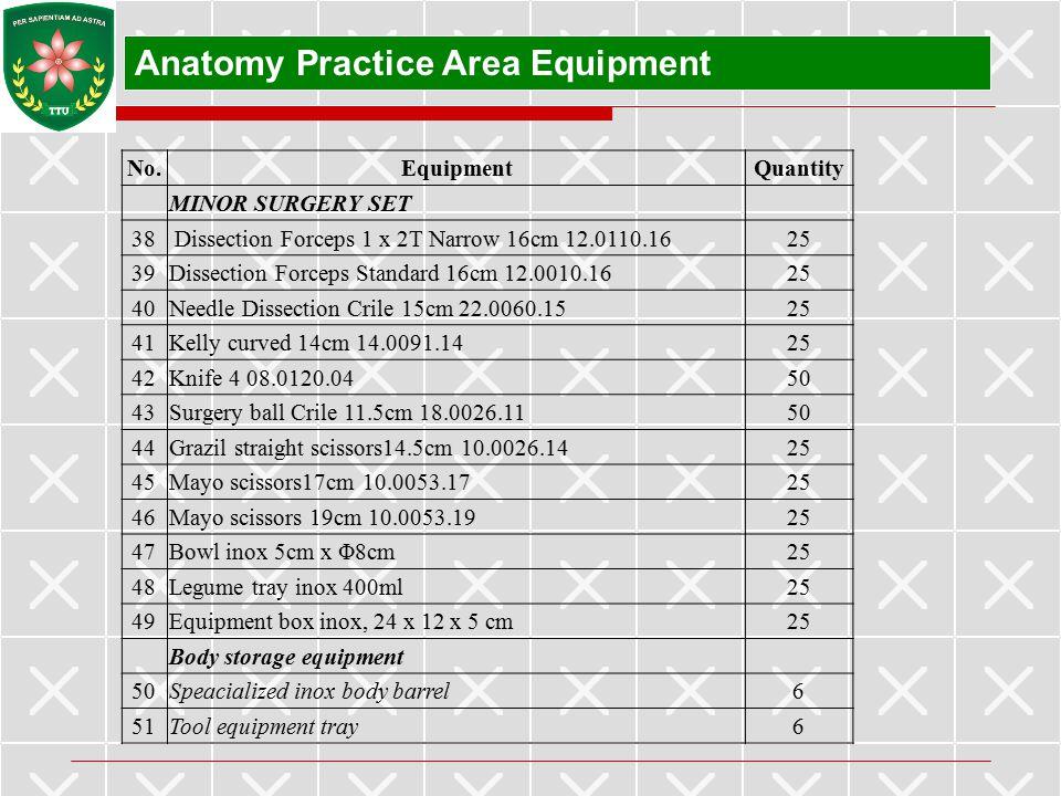 Anatomy Practice Area Equipment