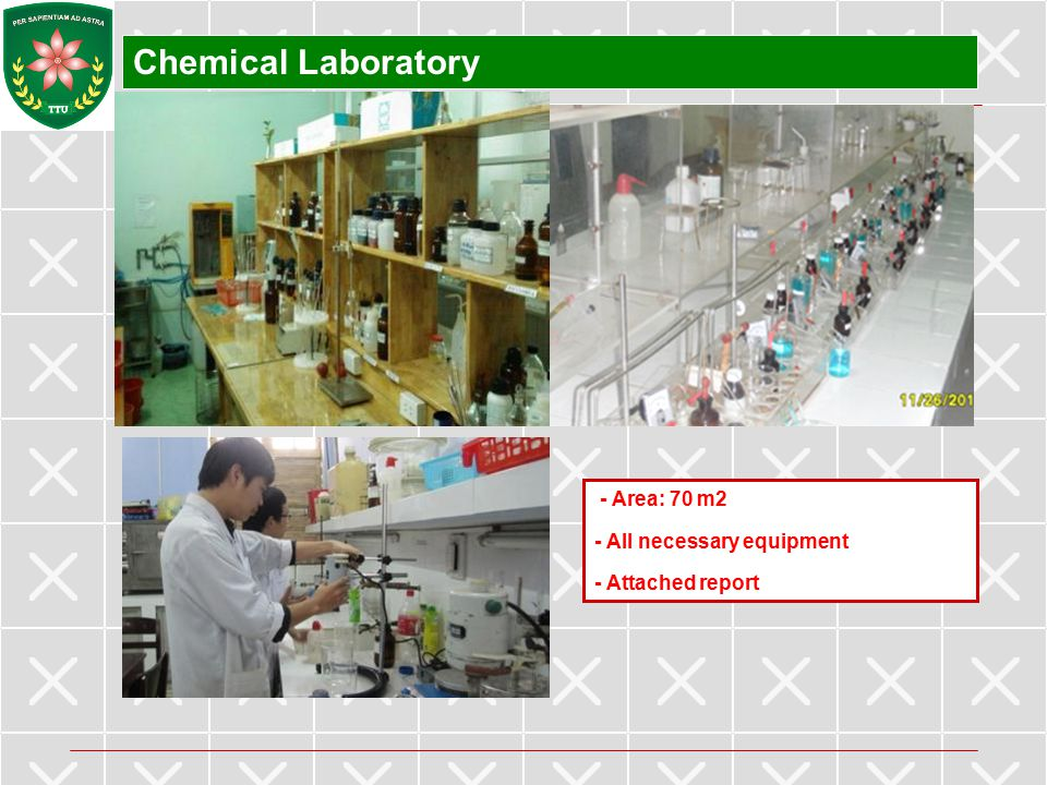 Chemical Laboratory - Area: 70 m2 - All necessary equipment