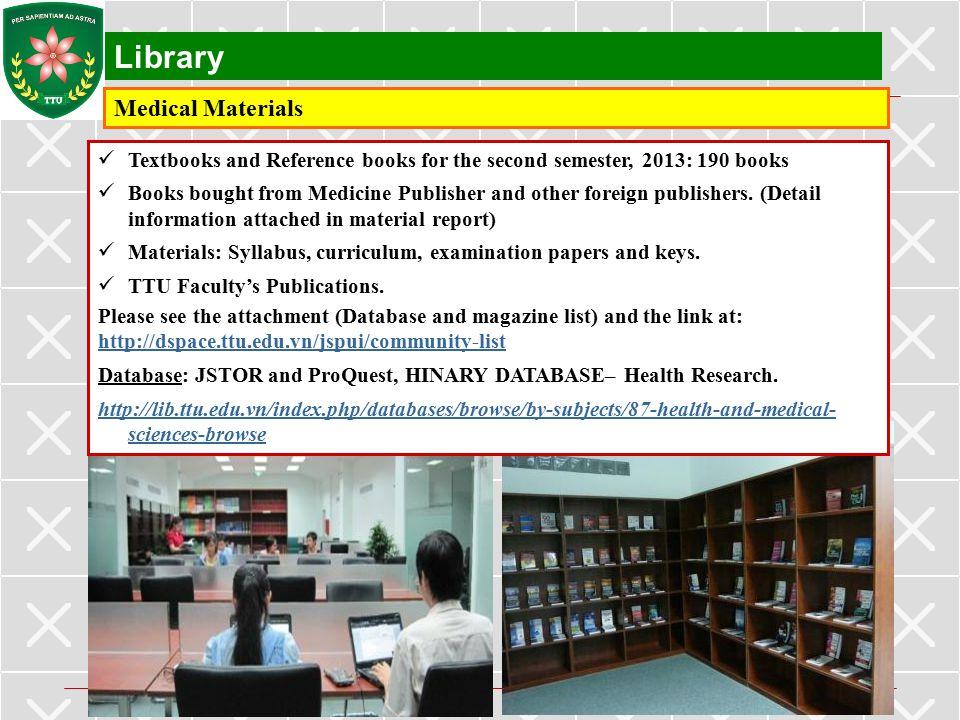 Library Medical Materials