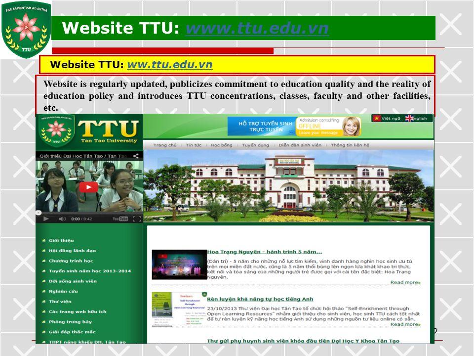 Website TTU: www.ttu.edu.vn