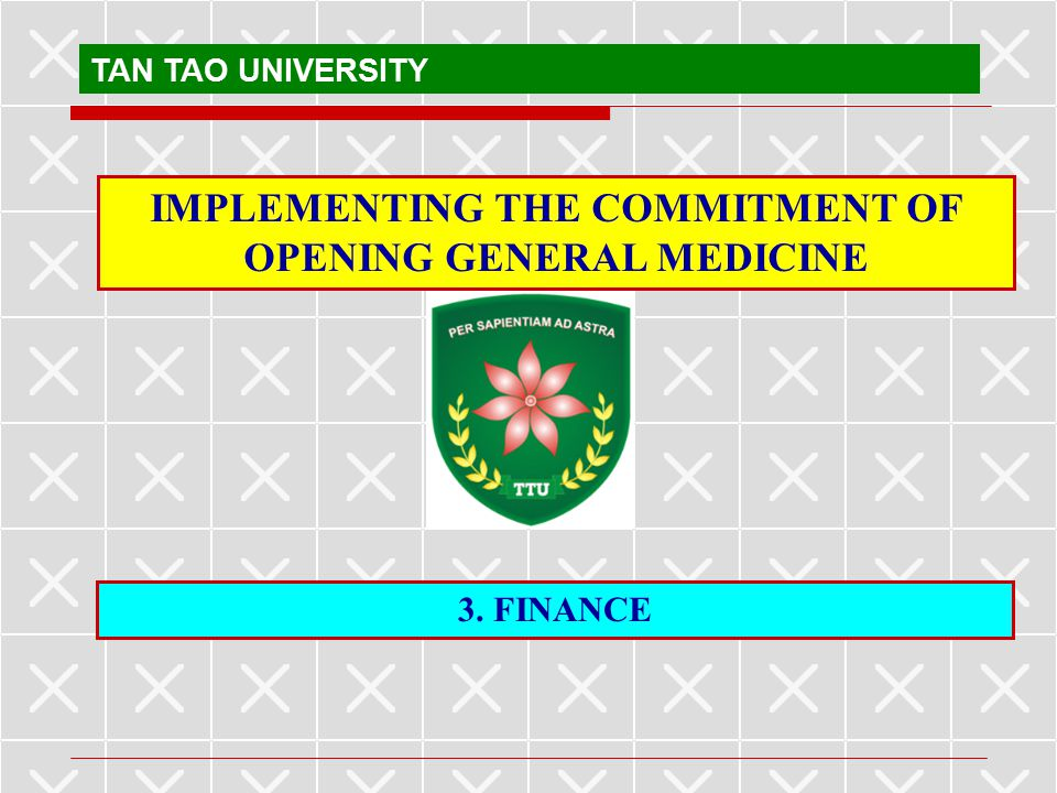 IMPLEMENTING THE COMMITMENT OF OPENING GENERAL MEDICINE
