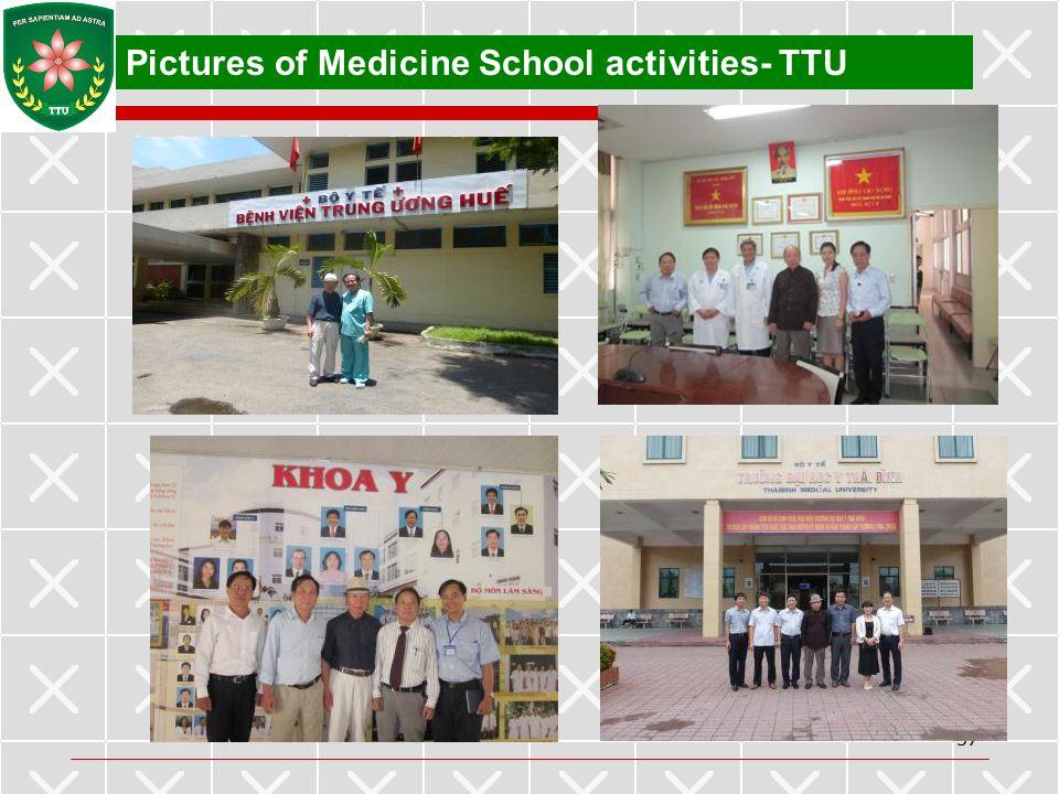 Pictures of Medicine School activities- TTU