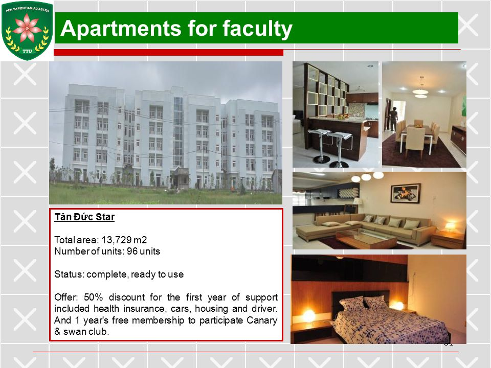 Apartments for faculty