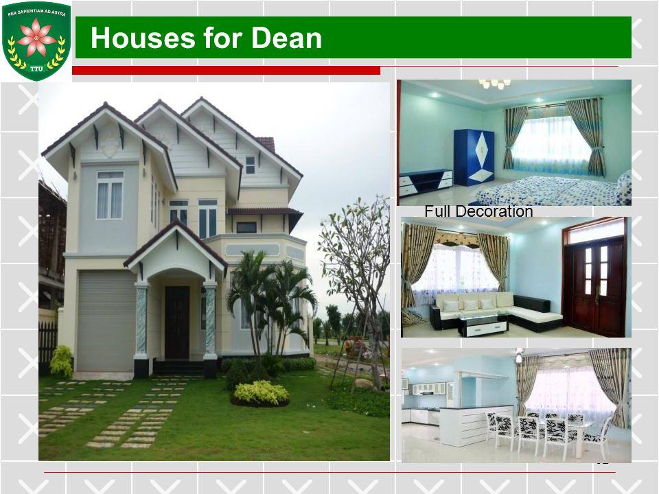 Houses for Dean Full Decoration