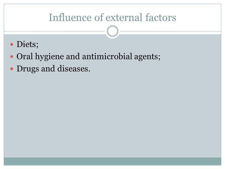 Influence of external factors