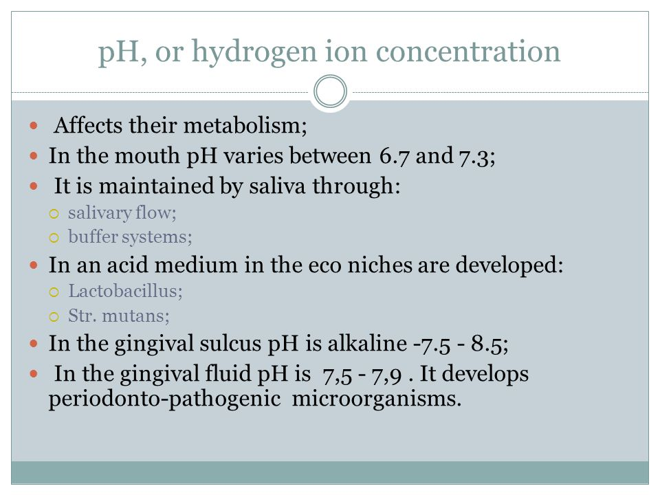 pH, or hydrogen ion concentration