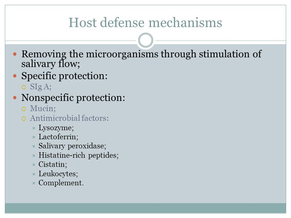 Host defense mechanisms