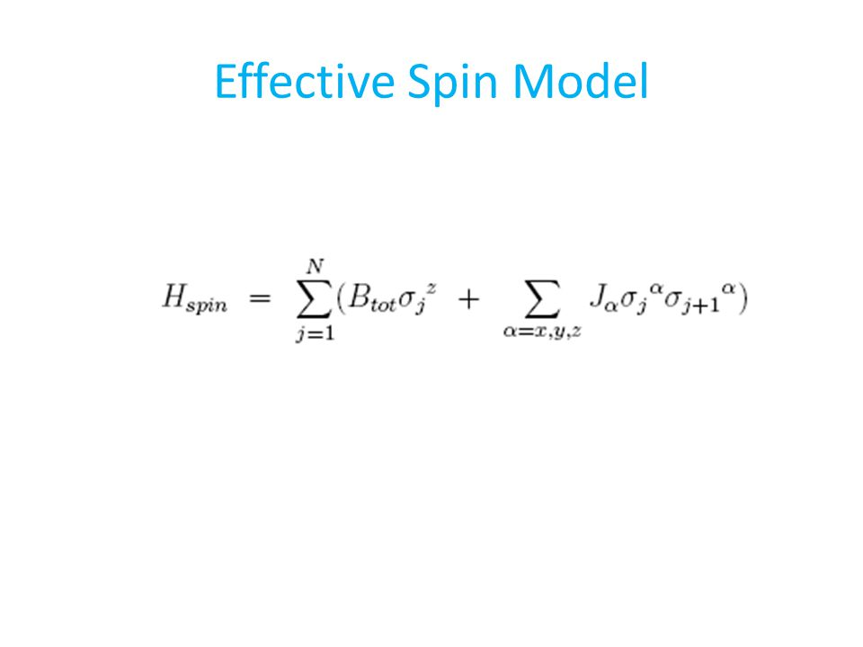 Effective Spin Model